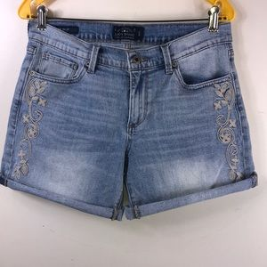 Lucky Brand embroidered shorts